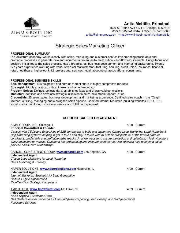Mettille Anita Aimm Group Resume
