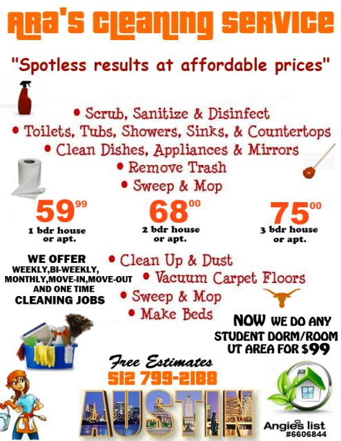 View source image | business | Pinterest | House cleaning prices ...