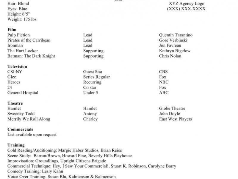 Download Beginner Acting Sample Resume | haadyaooverbayresort.com
