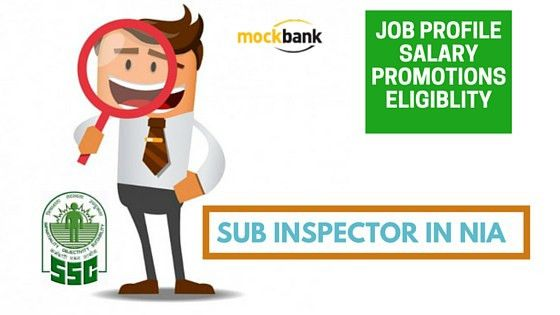SSC CGL: Sub Inspector in NIA (National Investigation Agency) Job ...