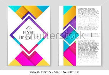 Abstract Vector Layout Background Set Art Stock Vector 662324602 ...