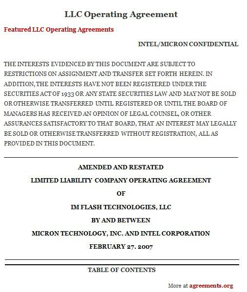 28+ Llc Contract Template | Free Single Member Llc Operating ...