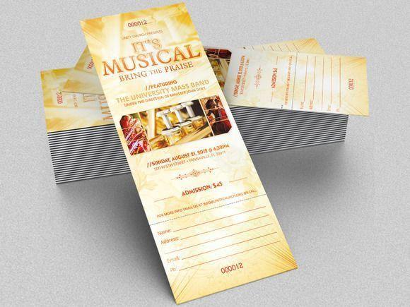 Best 25+ Concert ticket template ideas on Pinterest | Ticket ...