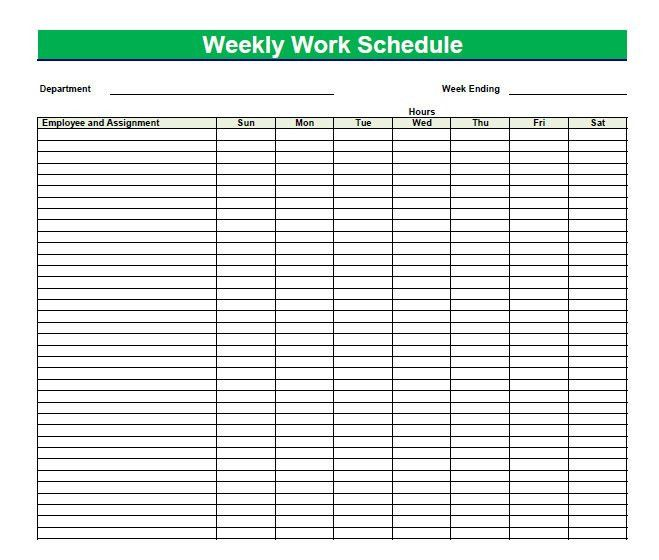 Blank Time Sheets for Employees | Printable blank PDF weekly ...