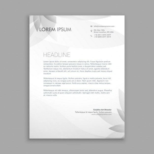 Creative floral letterhead template Vector | Free Download