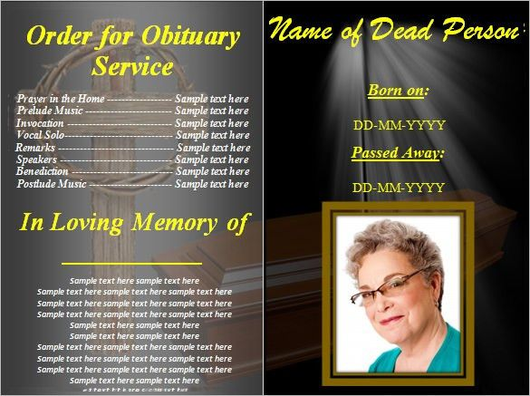 Blank Obituary Template – 7+ Free Word, Excel, PDF Format Download ...