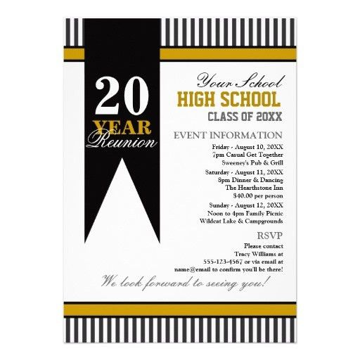 High School Class Reunion Card | High school class reunion, High ...