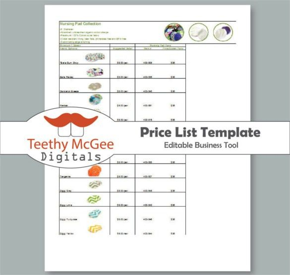 Price List Template - 25+ Free Word, Excel, PDF, PSD Format ...