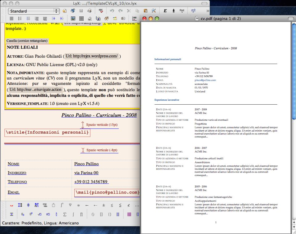 28+ Lyx Resume Template | Creating Cv Using Latex Online Writing ...