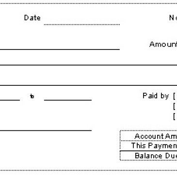 Bank Payment receipt template Archives - Word Templates