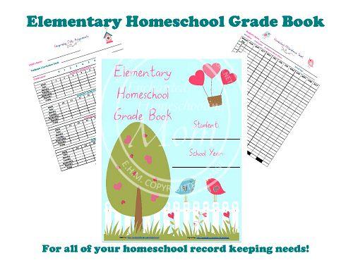 Elementary Homeschool Grade Book - Enchanted Homeschooling Mom ...