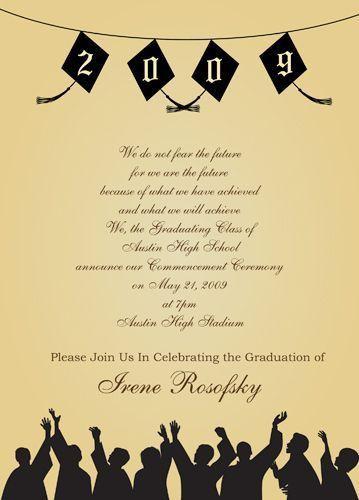 Graduation Party Invitation Templates - iidaemilia.Com