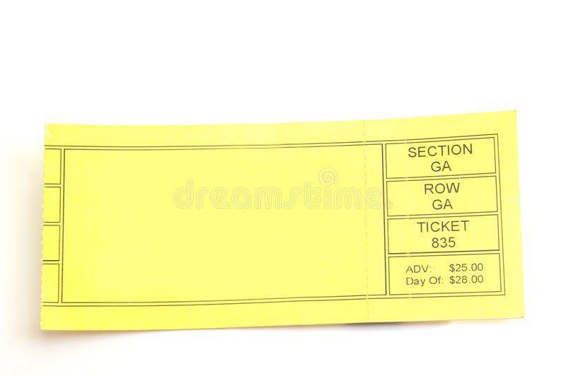 Blank Ticket Stock Image - Image: 1251431