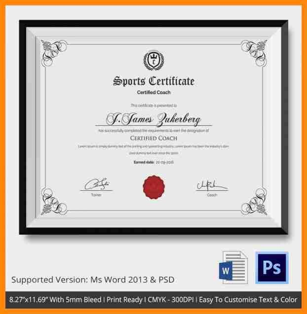 9+ sports certificate format   nurse resumed