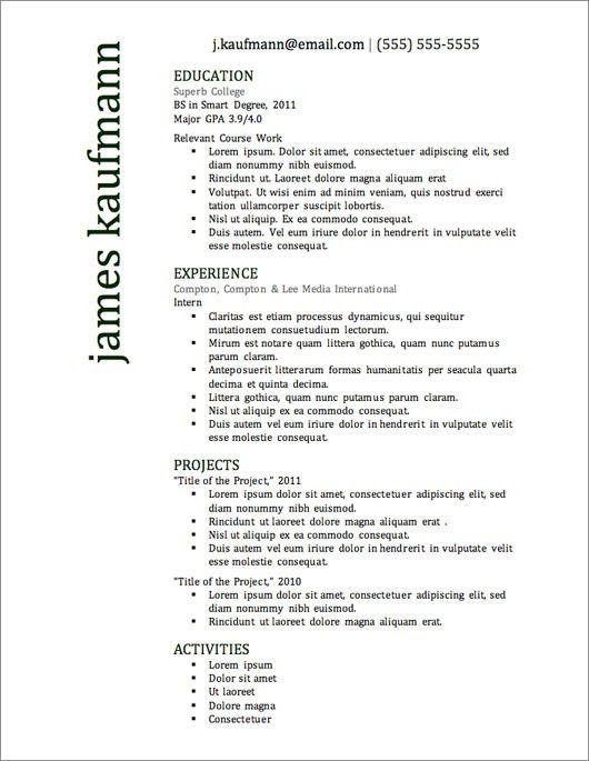 12 Resume Templates for Microsoft Word Free Download | Primer