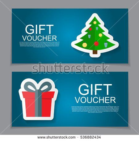 Gift Voucher Template Christmas New Year Stock Vector 534438124 ...