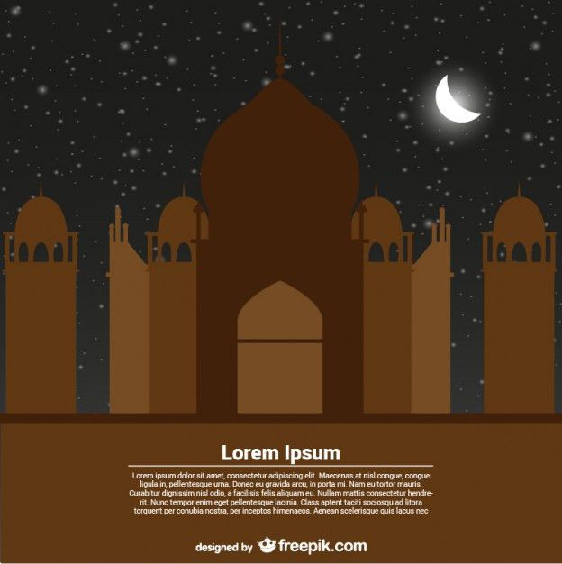 Greeting Card Template for Ramadan Kareem Vector | Free Download