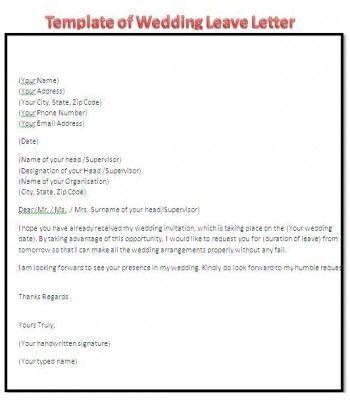 Application letter format leave