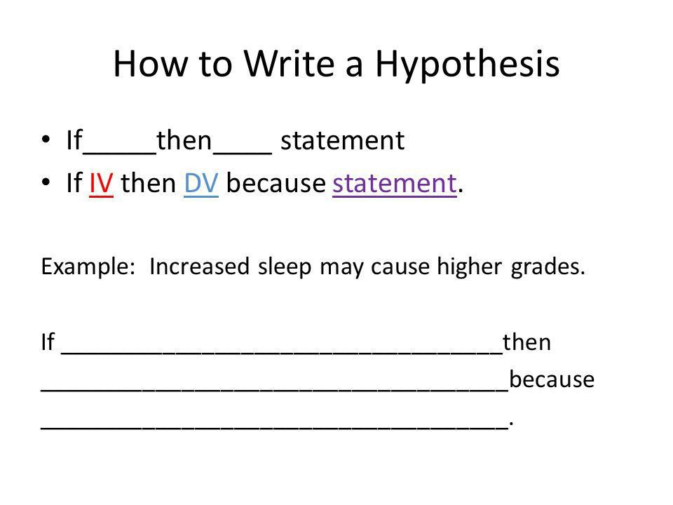 Variables in Scientific Experiments & Writing Hypotheses - ppt ...