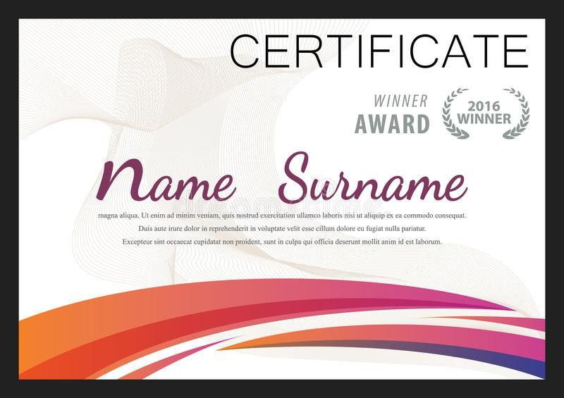 Certificate Template,diploma Layout Stock Vector - Image: 65715767