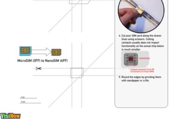 Cut Your Own Nano SIM for iPhone 5 - VisiHow