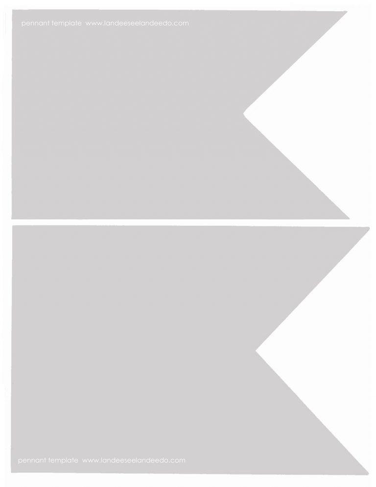 Triangle Flag Banner Template - Contegri.com