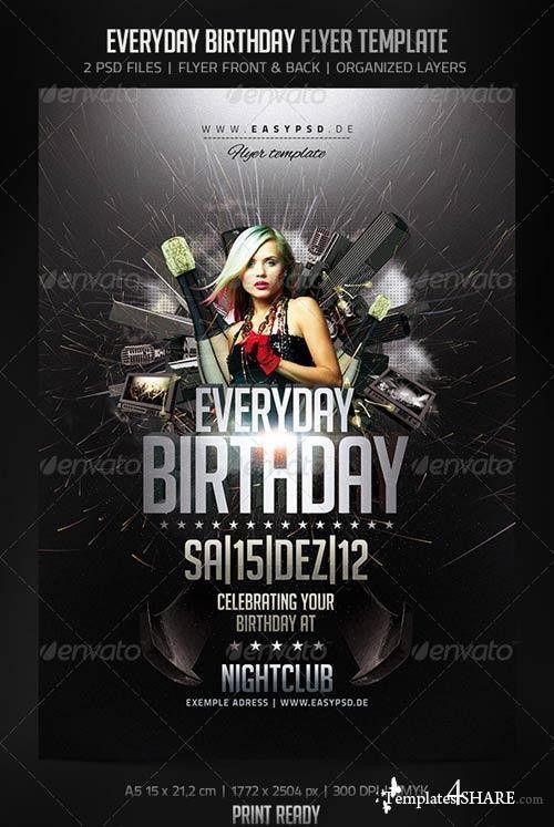 GraphicRiver Everyday Birthday Flyer » Templates4share.com - Free ...