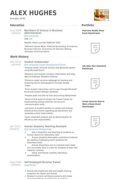 Student Ambassador Resume samples - VisualCV resume samples database