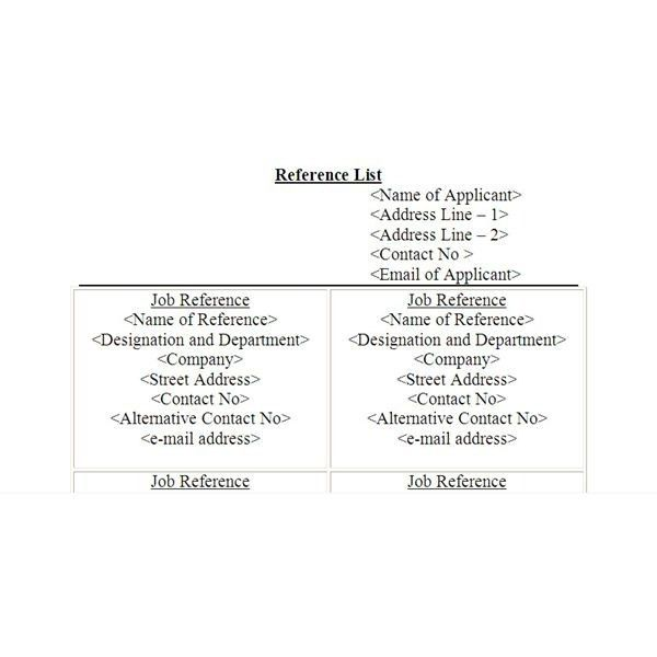 Resume Reference Page Example [Template.billybullock.us ]