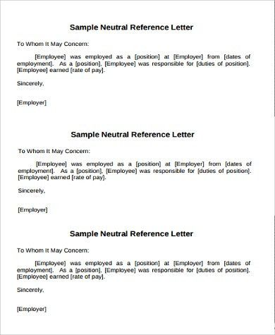 Example of Reference Letter - 11+ Samples in Word, PDF