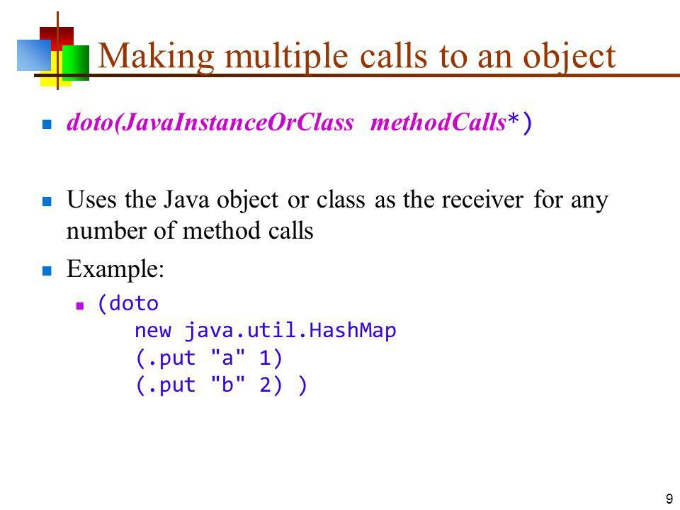 Clojure 5 Clojure and Java. The JVM Clojure runs on the JVM (Java ...