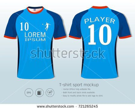Set Soccer Football Kit Template Your Stock Vector 410048065 ...