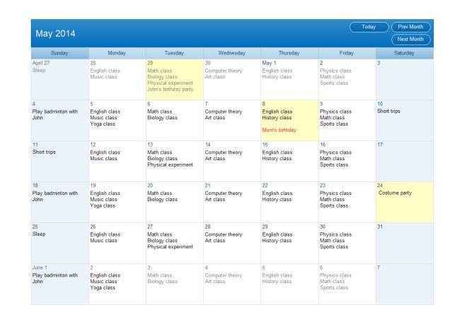 Weekly Task Schedule | Free Weekly Task Schedule Templates