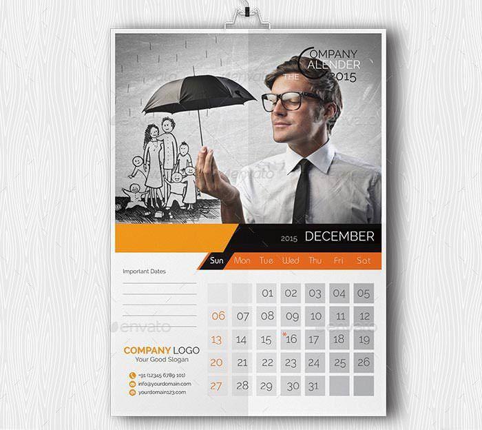 24 Best Business Calendar Templates 2015 & Samples | Free ...