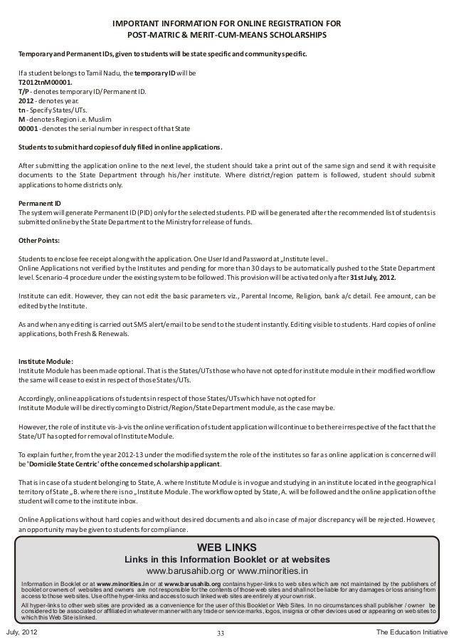Minorty scheme booklet