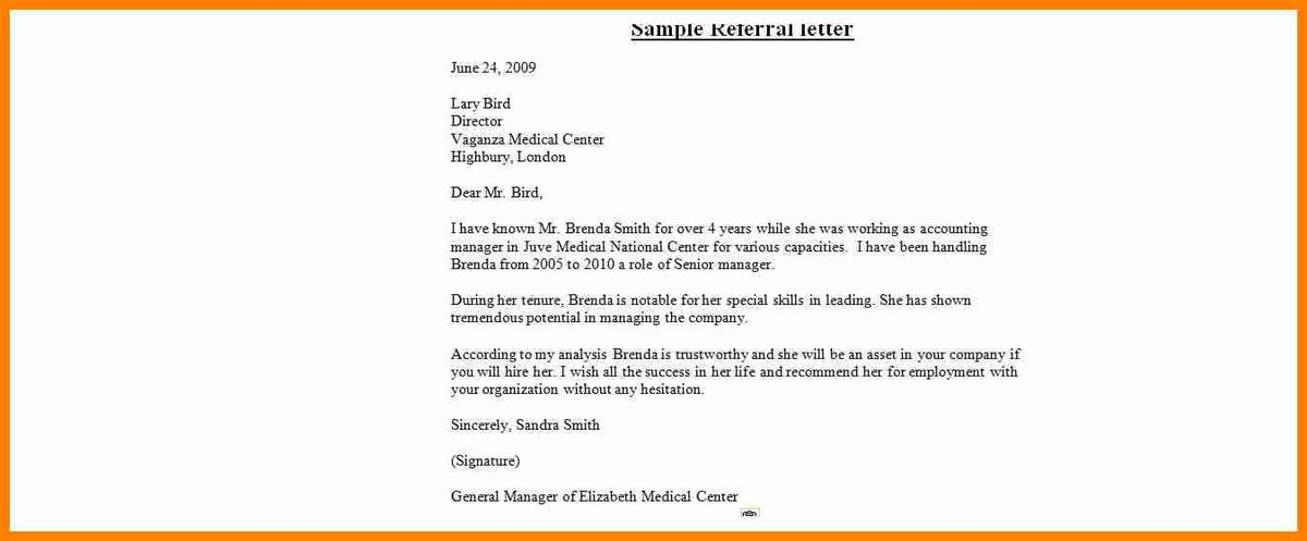 11+ samples of referral letters medical | buyer resume