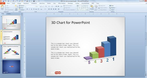 Free 3D Concept Bar Chart Design for PowerPoint - Free PowerPoint ...