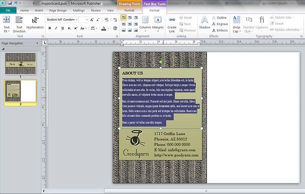 How To: Lay Out a Postcard in Microsoft Publisher 2010 ...