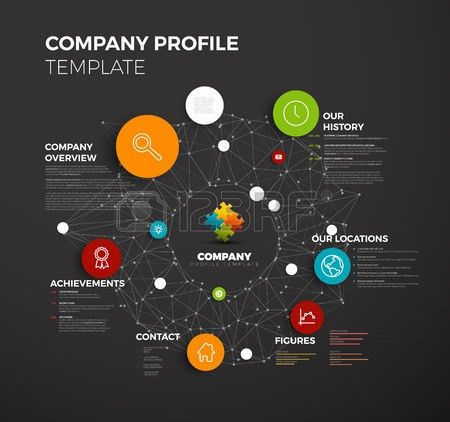 4,446 Company Profile Template Cliparts, Stock Vector And Royalty ...