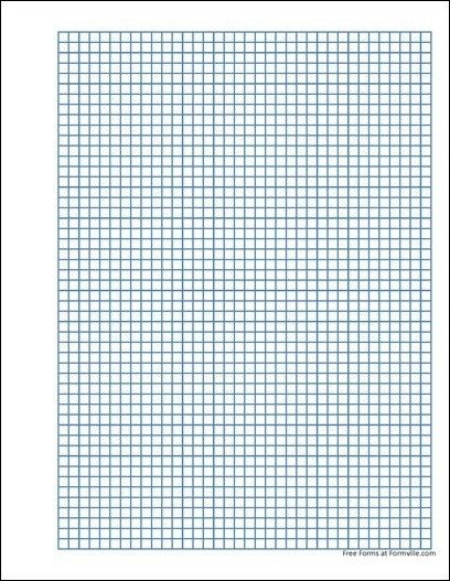Free Punchable Graph Paper (5 Millimeter Heavy Blue) from Formville