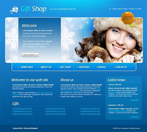 Gift Shop Web Template - 4193 - Beauty & Fashion - Website ...