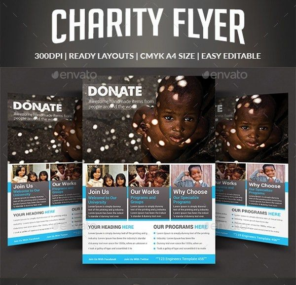 Free Fundraising Flyer Psd Templates Download | Best Business Template