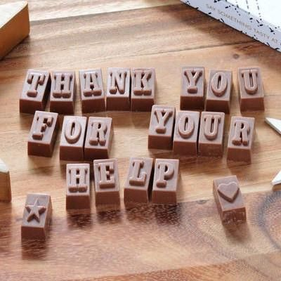 Chocolate Blocks - Thank You Messages — Not Another Bunch Of Flowers