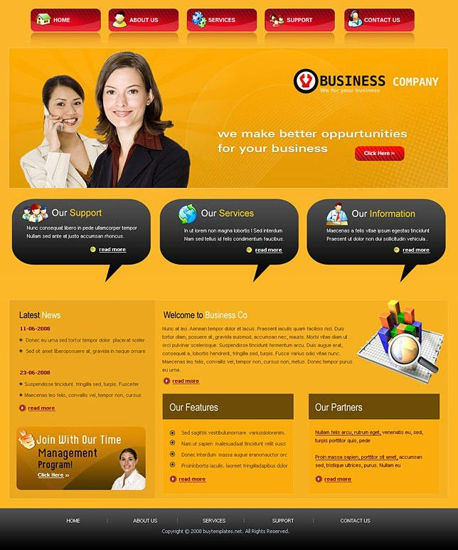 Html css web templates for business services
