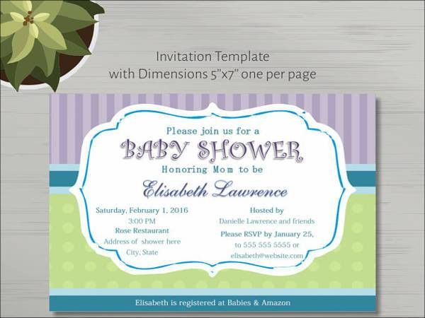 9+ Baby Shower Invitation Templates - Free PSD, Vector AI, EPS ...