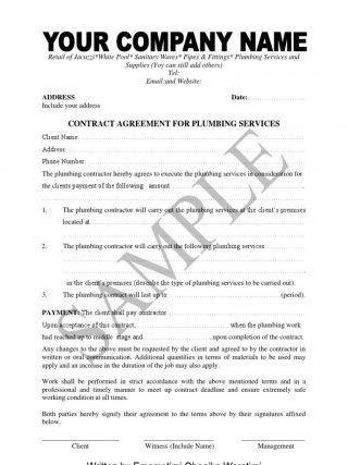 Hvac Maintenance Agreement Template. hv 1006 hvac maintenance ...
