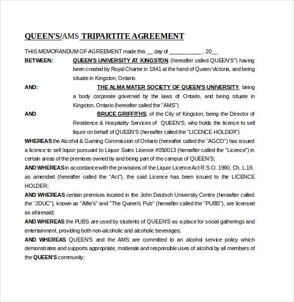 Sample Memorandum Of Agreements. Memorandum Of Agreement ...