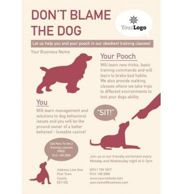 Dog Care A6 Leaflet design #dogs #training #printing #design | A6 ...