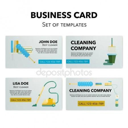 Cleaning company business cards set. — Stock Vector © wonderstasy ...
