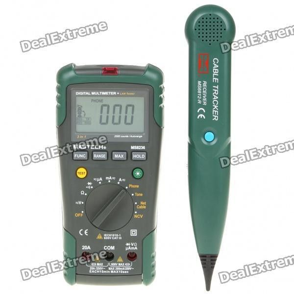 Cheap MS8236 Digital Network Multimeter + Cable Tester